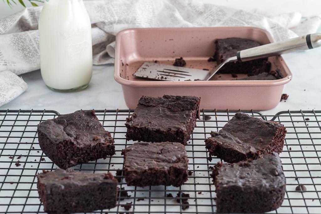 keto brownies on cooling rack