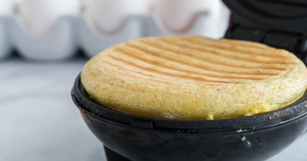 keto chaffle in dash mini waffle maker