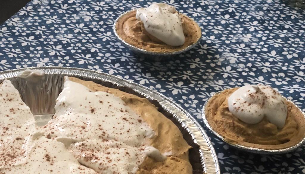 Keto Pumpkin Cream Pie and mini pies