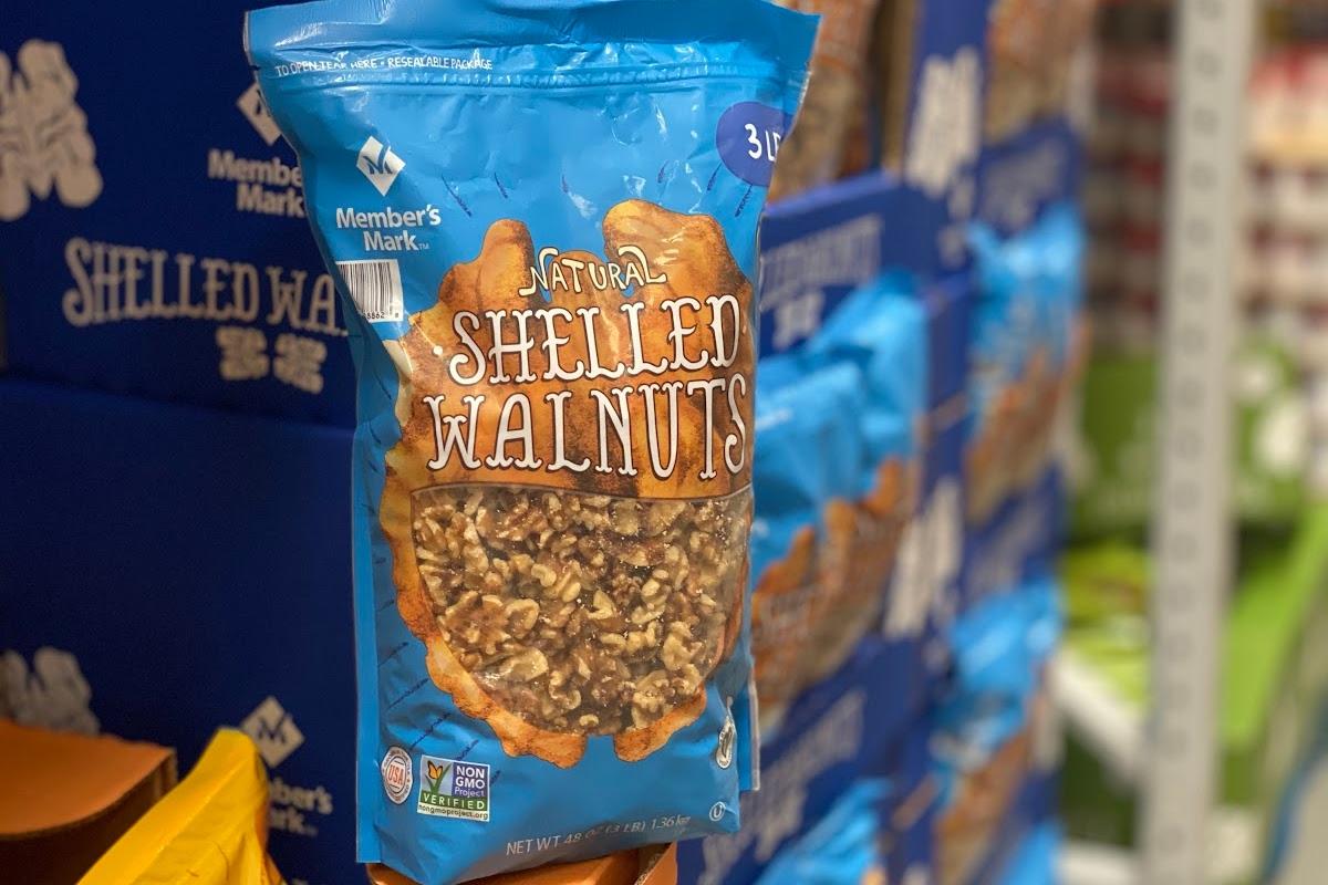 Bag of shelled walnuts