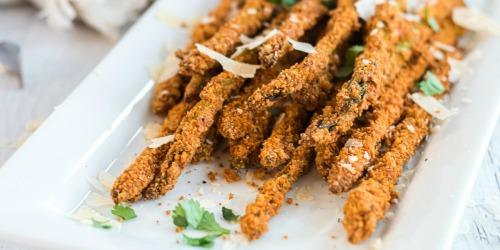 Keto Parmesan Asparagus Fries