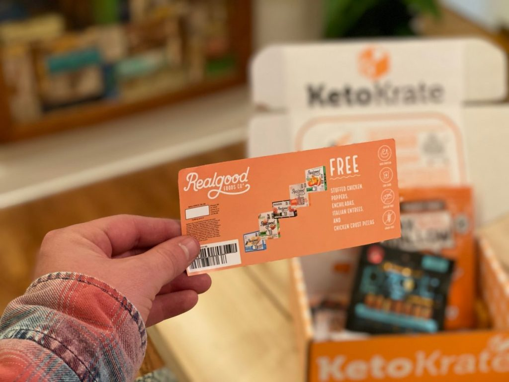 hand holding keto krate coupon
