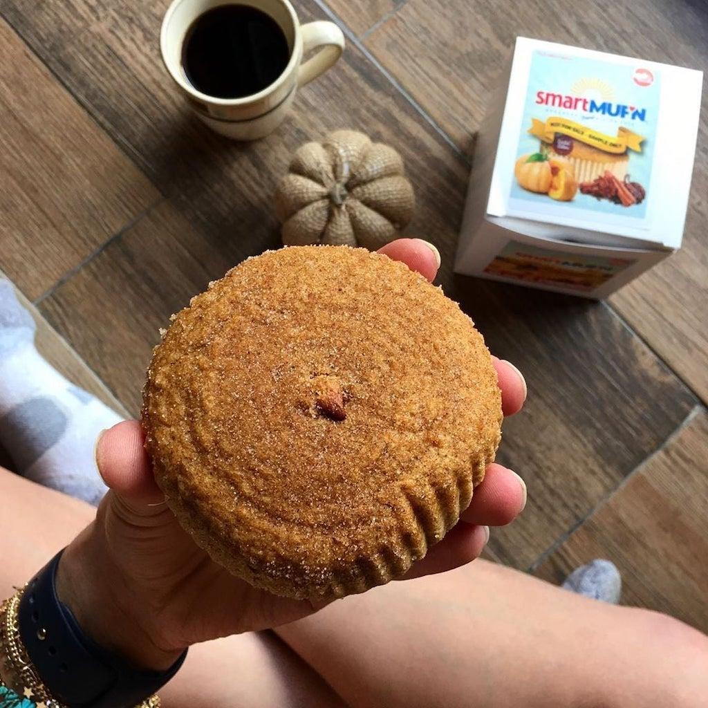 holding smartcakes smart keto muffin