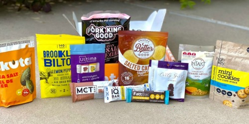 Get $10 Off Your First Keto Krate Box (Includes 10+ Full-Size Keto Snacks!)