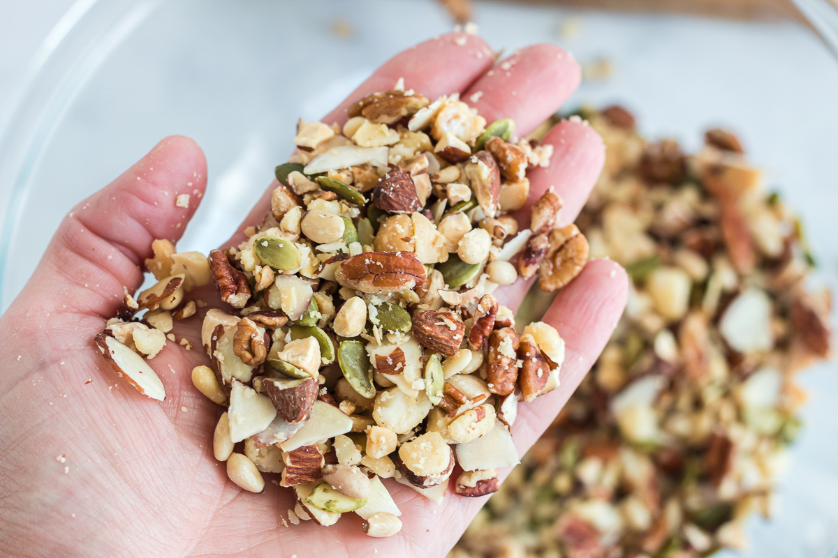 handful of mixed nuts and seeds