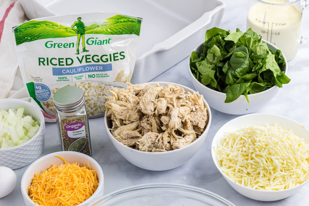 ingredients for chicken Alfredo casserole