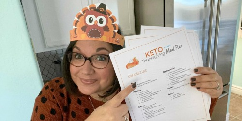 Free Keto Thanksgiving Meal Plan and Printable Grocery List (Including the Pumpkin Pie!)