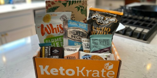 $10 Off Keto Krate Box + FREE Shipping (Includes 10 Full-Size Keto Snacks!)