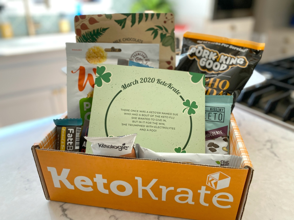 Keto Krate box with March items