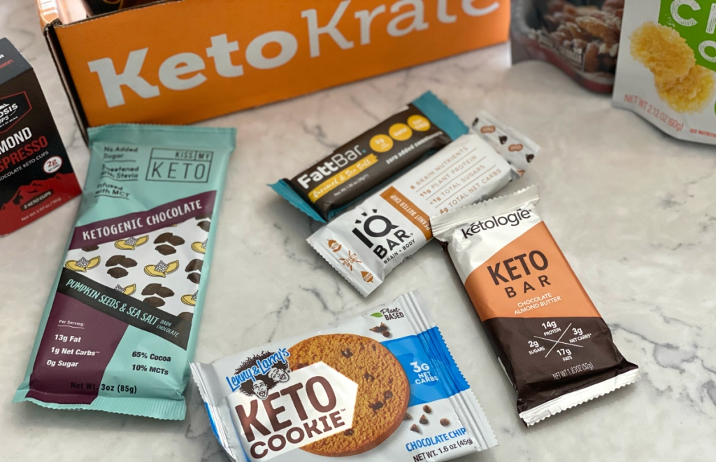 keto krate cookies and bars