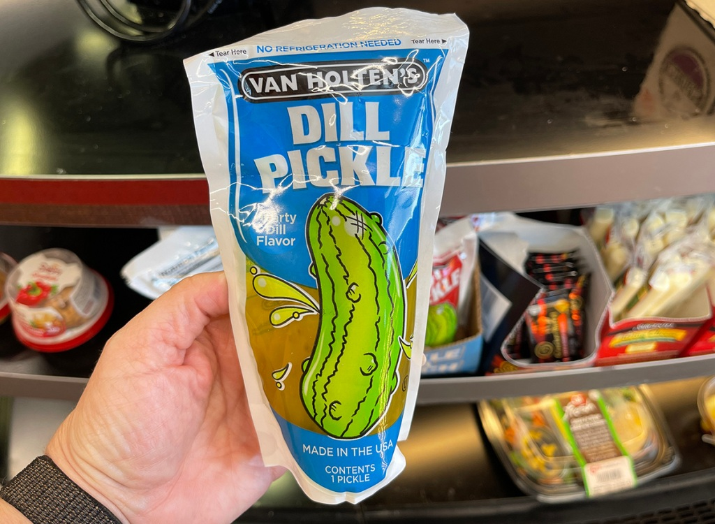 pickle pouch at gas station