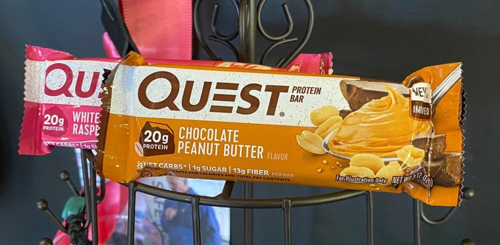 quest chocolate peanut butter bar