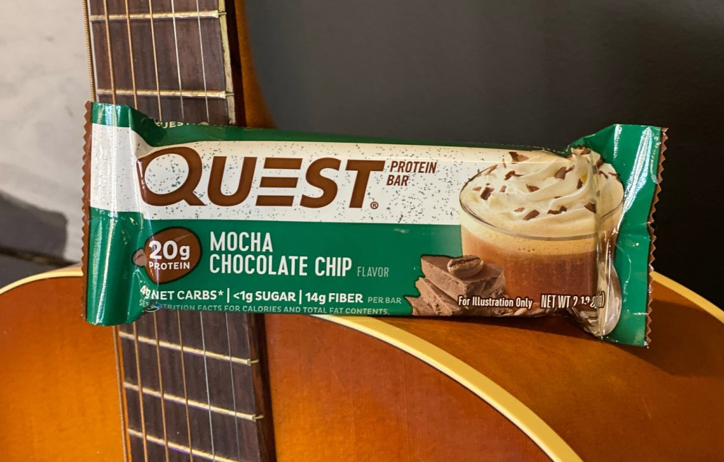 quest mocha bar on guitar
