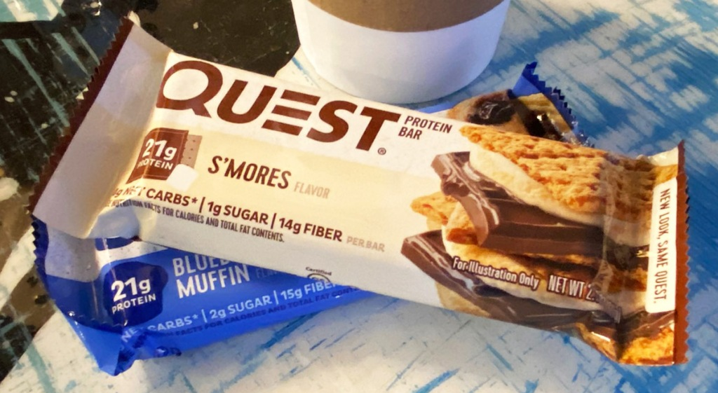 quest smores bar on table