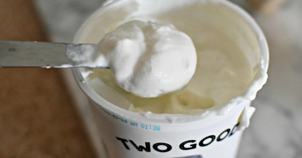 tablespoon of greek yogurt