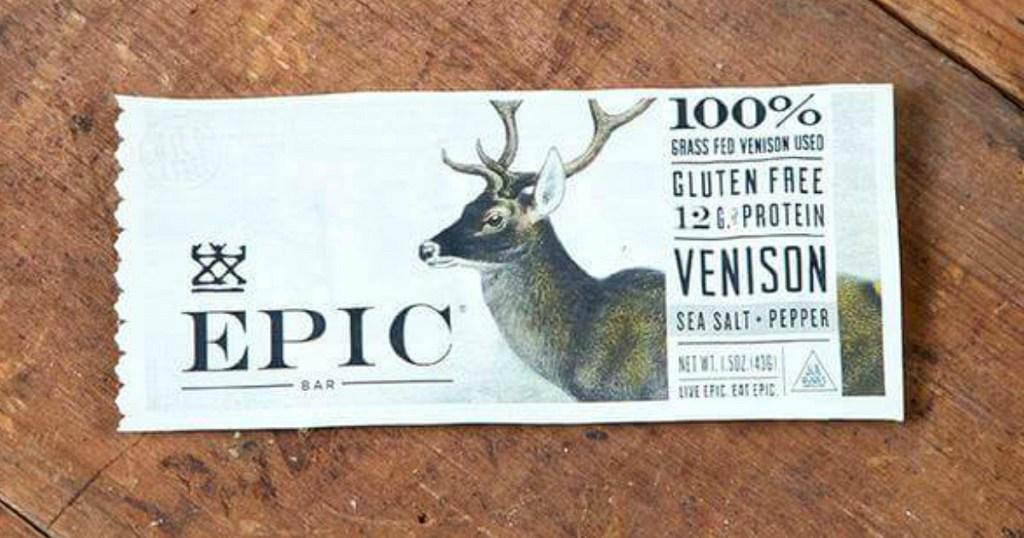EPIC Venison Bars, salt & pepper