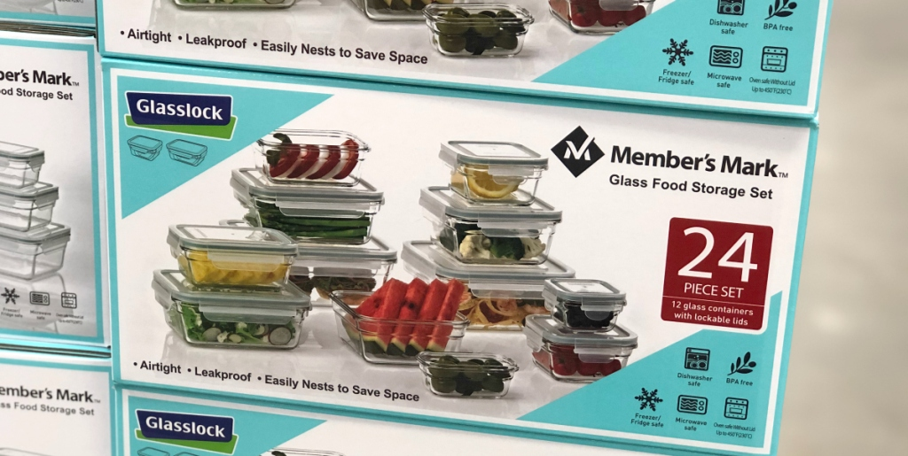box of glasslock storage containers at sam's club