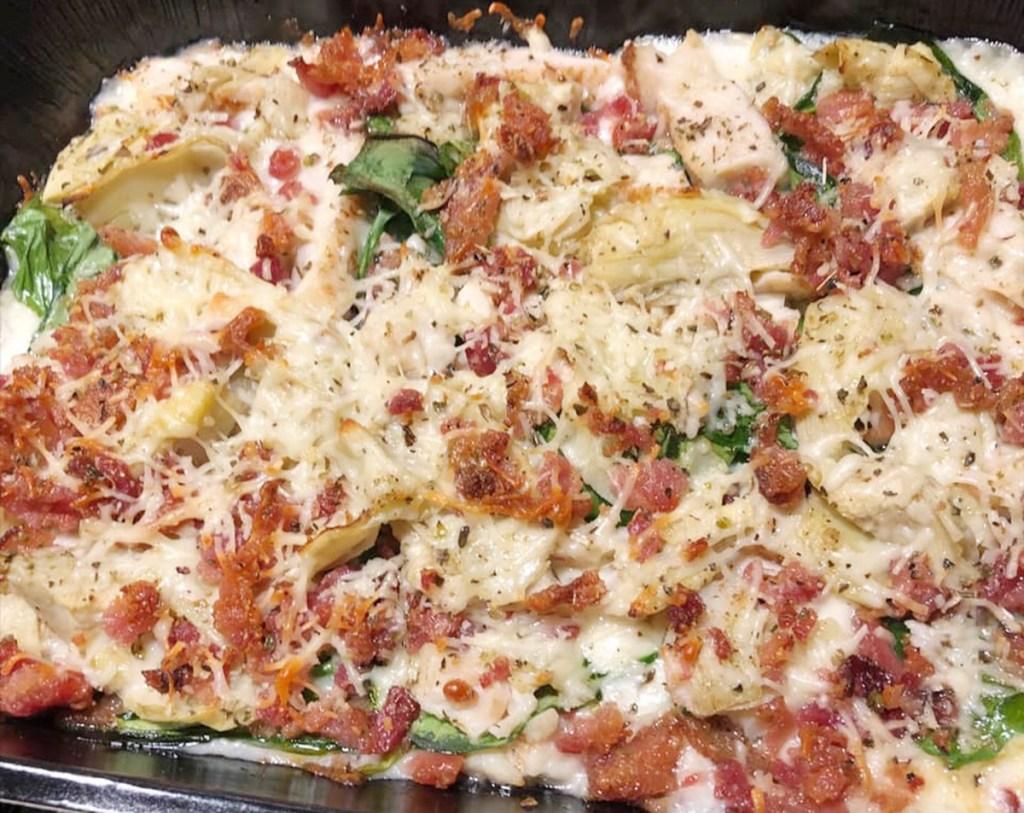 chicken bacon artichoke papa murphys pizza