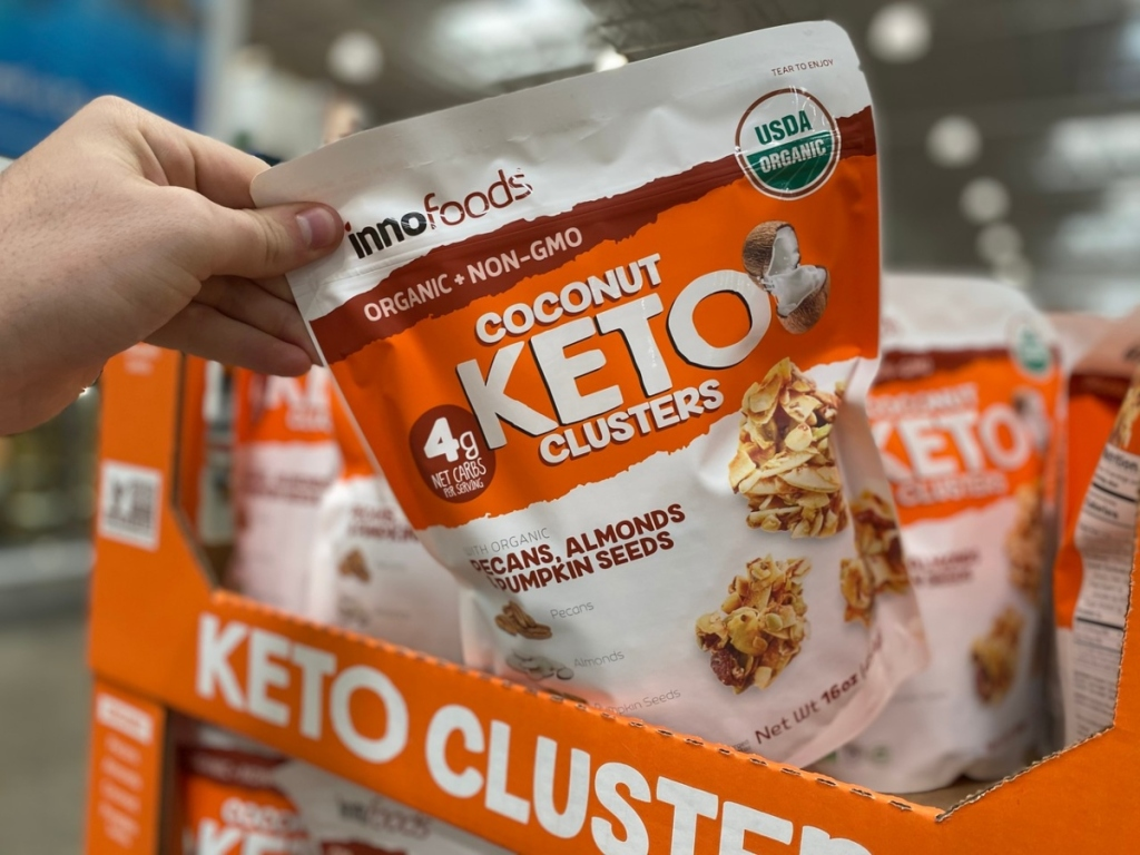 taking Keto Clusters from display at Costco