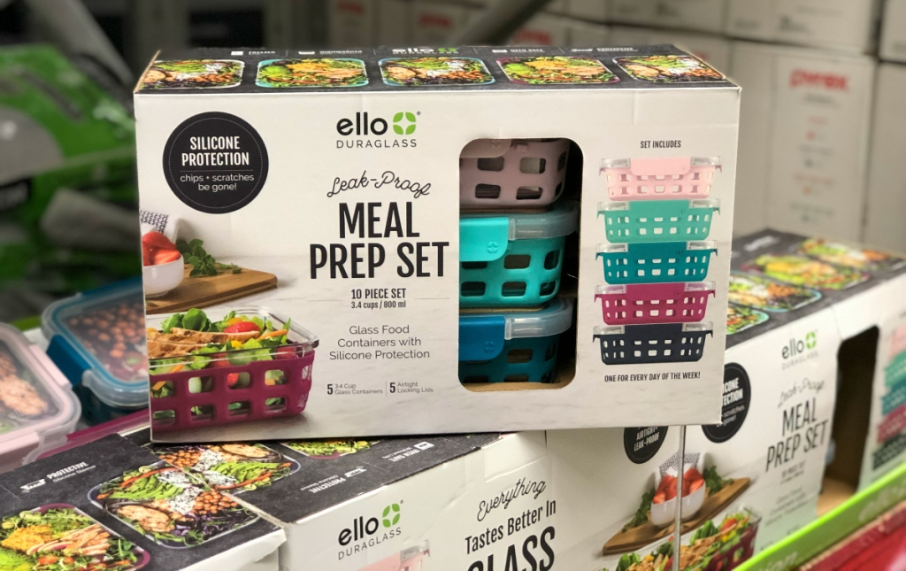 box of ello duraglass meal prep containers