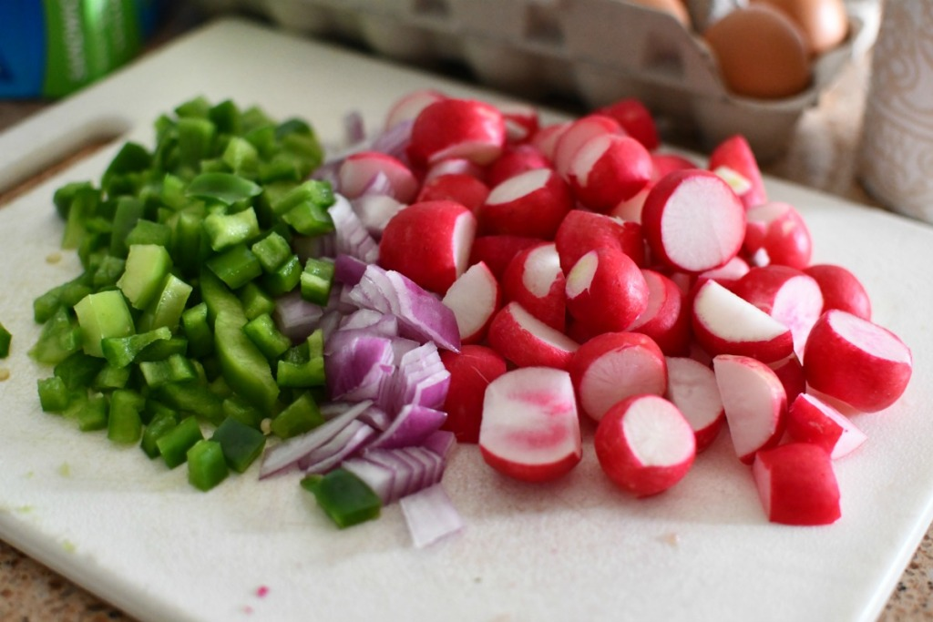 ingredients for radish breakfast potatoes