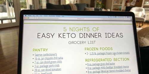 Easy Keto Meal Plan to Start the 30-Day Challenge — Printable List & Walmart Grocery Links Included!