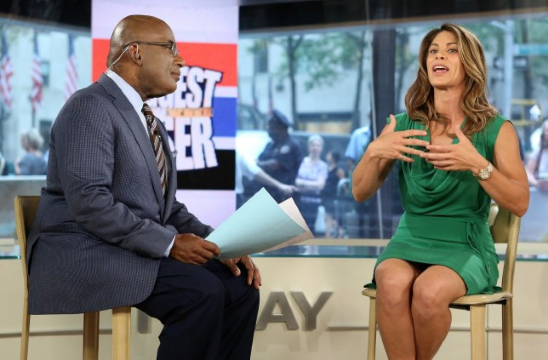 AL Roker interviewing Jillian Michaels