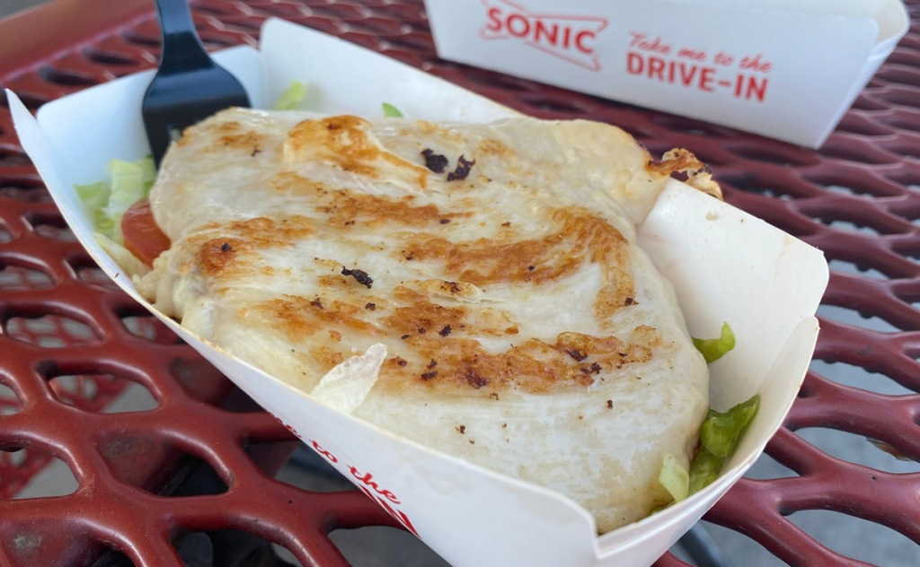 sonic grilled chicken sandwich in a bowl