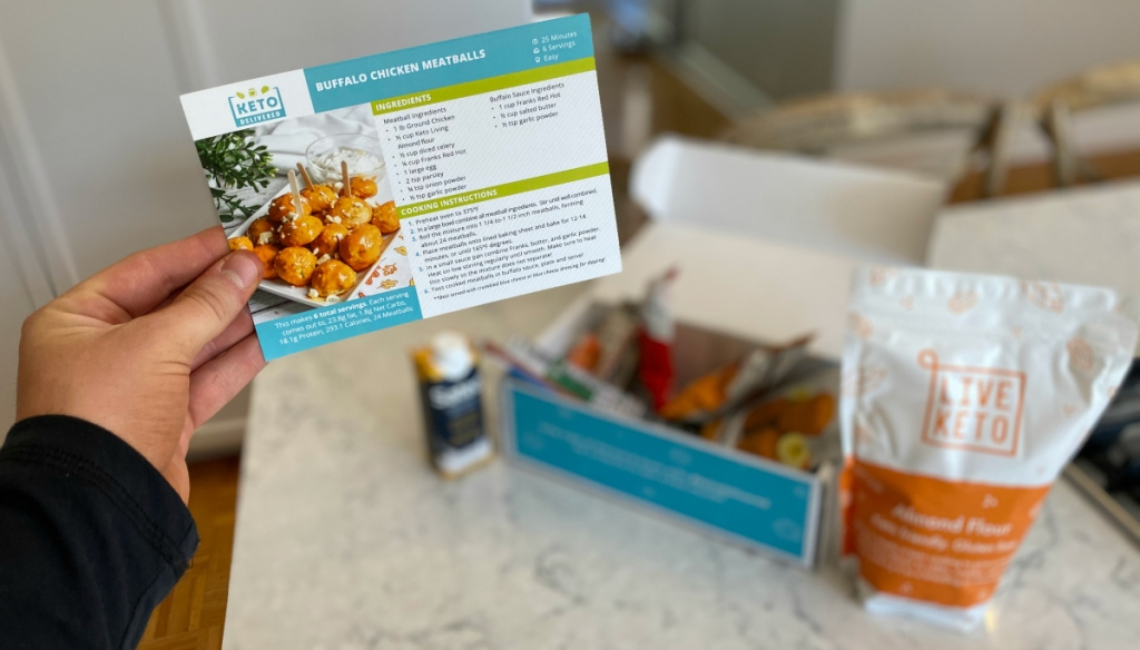 Keto Delivered box recipes