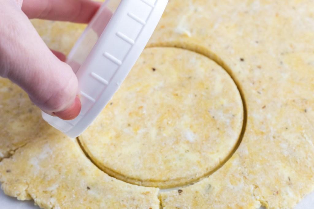 cutting out dough