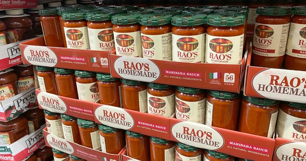Rao's homemade jars at Costco