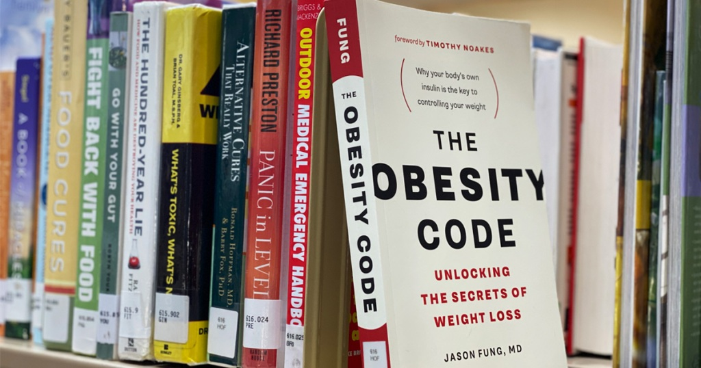 The Obesity Code Book on Library Shelf