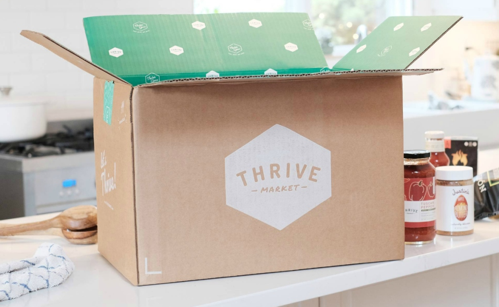 Thrive Market box on counter