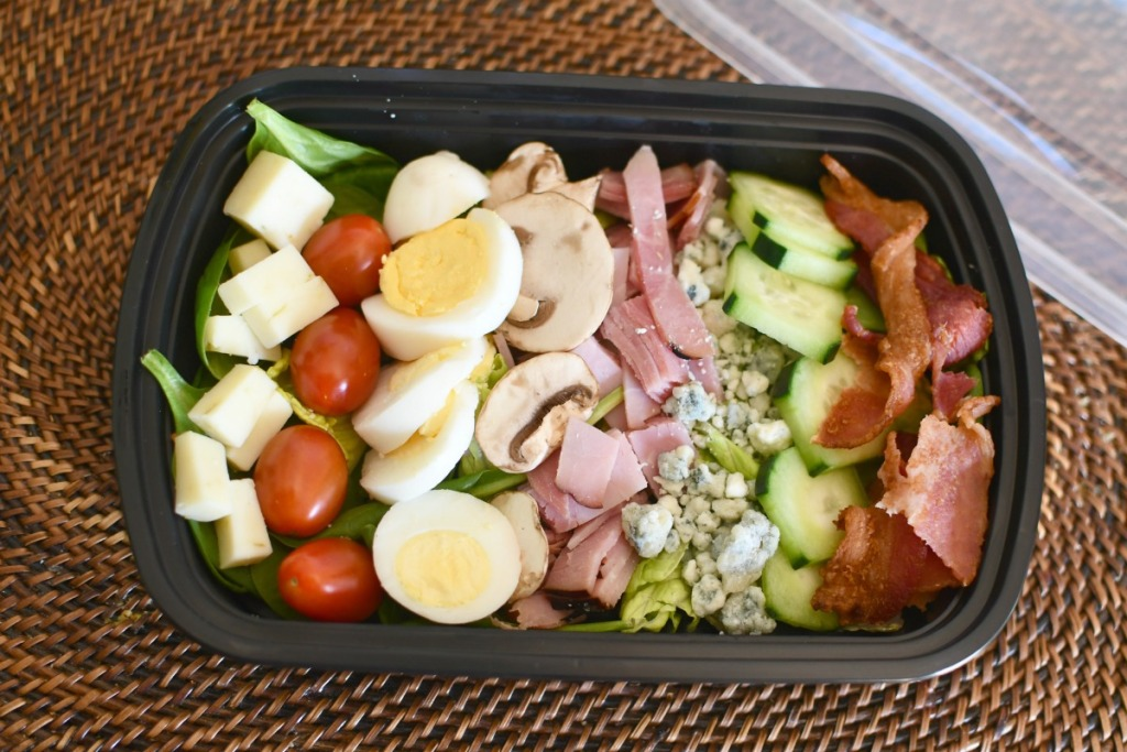 chef salad keto lunch in a container