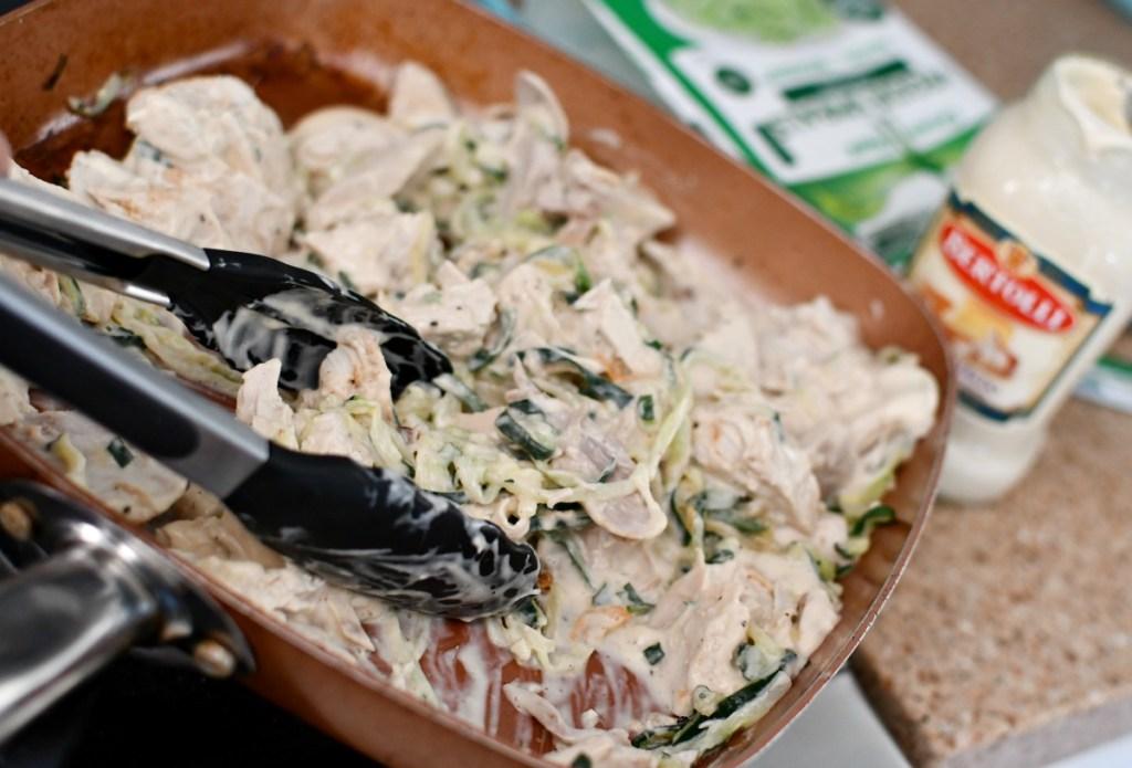 chicken zucchini noodle skillet