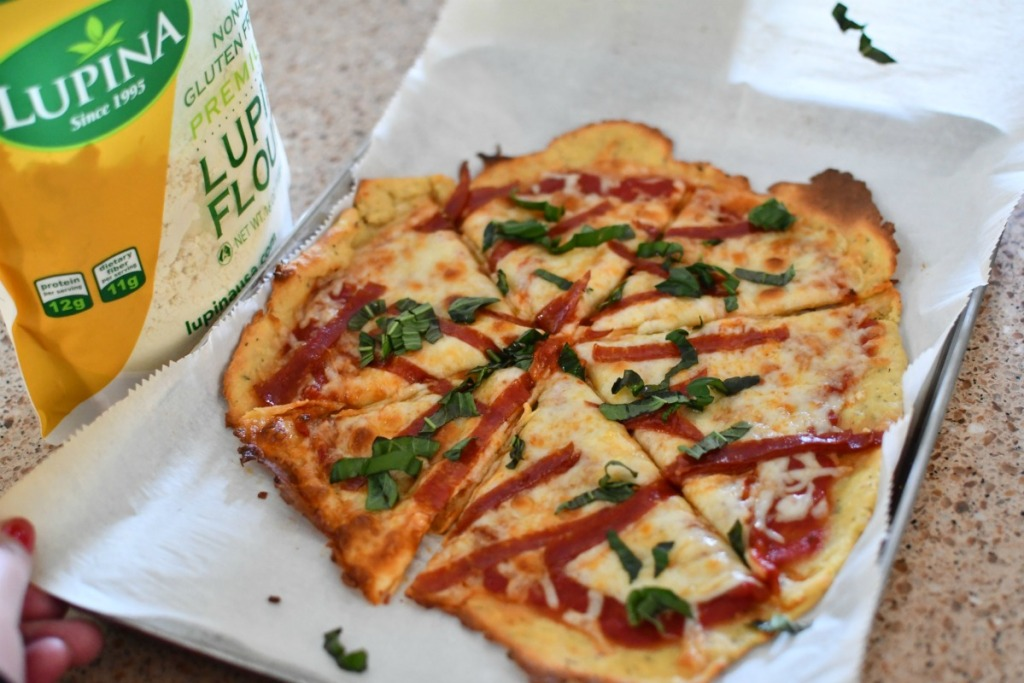 fat head pizza using lupina
