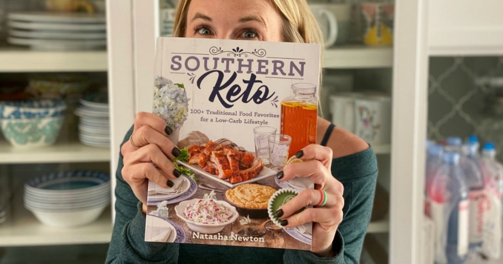 woman holding Southern Keto book