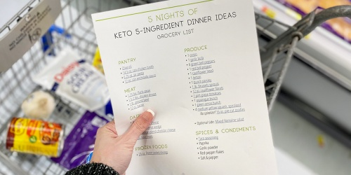 Five Nights of 5-Ingredient Keto Dinners (Easy Meal Plan + Grocery List)