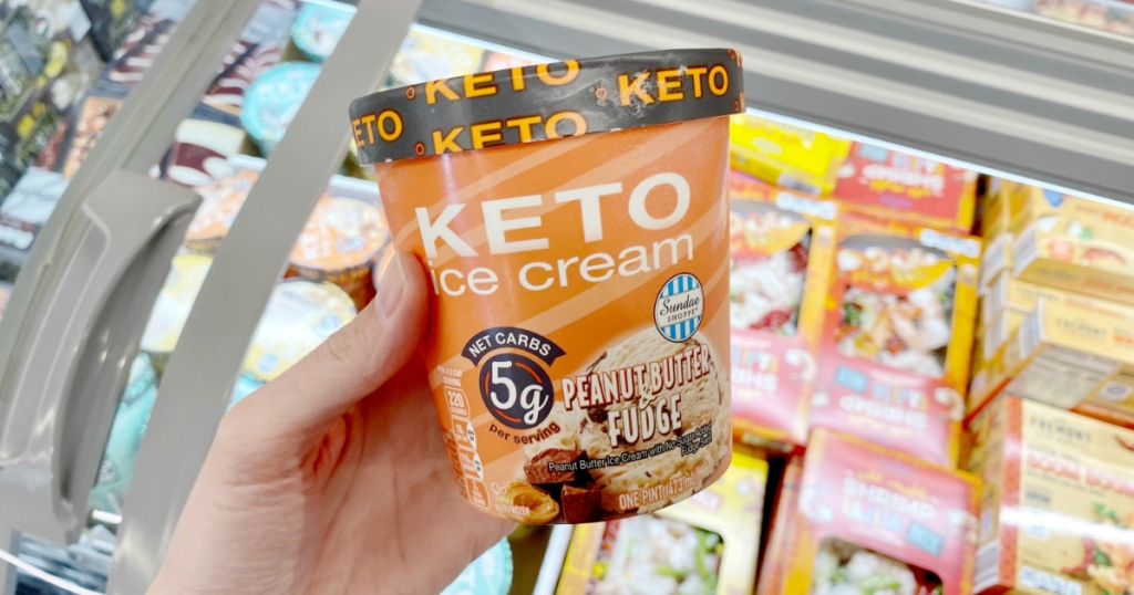 keto ice cream pint at ALDI