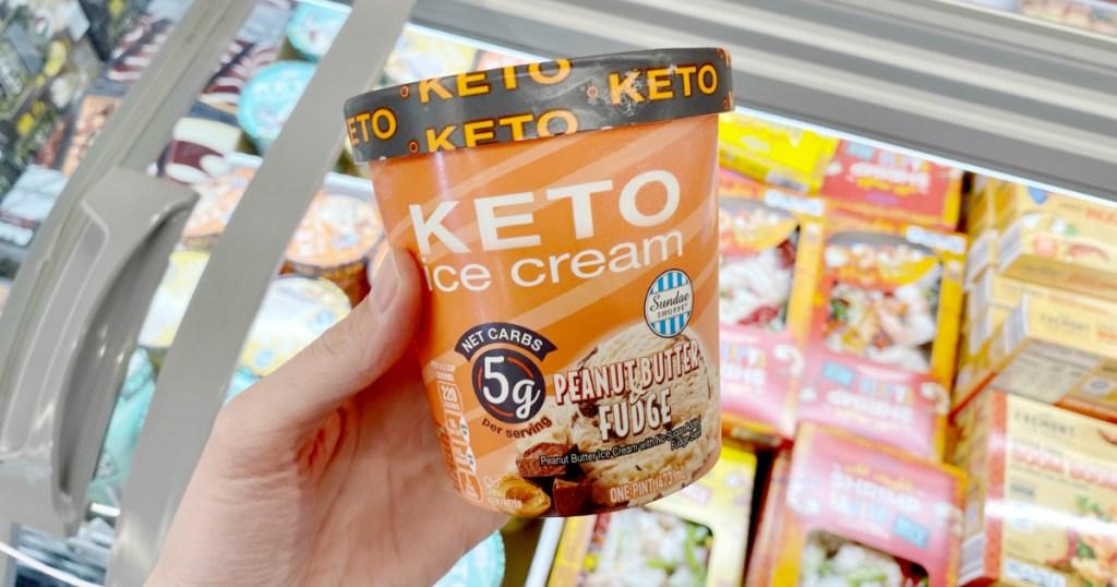keto ice cream pint at ALDI