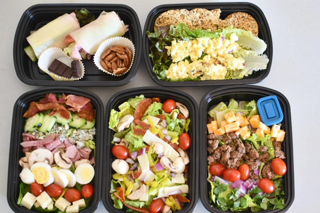 5 easy keto lunches on the counter