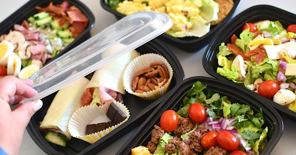 5 make-ahead keto lunches in meal prep containers