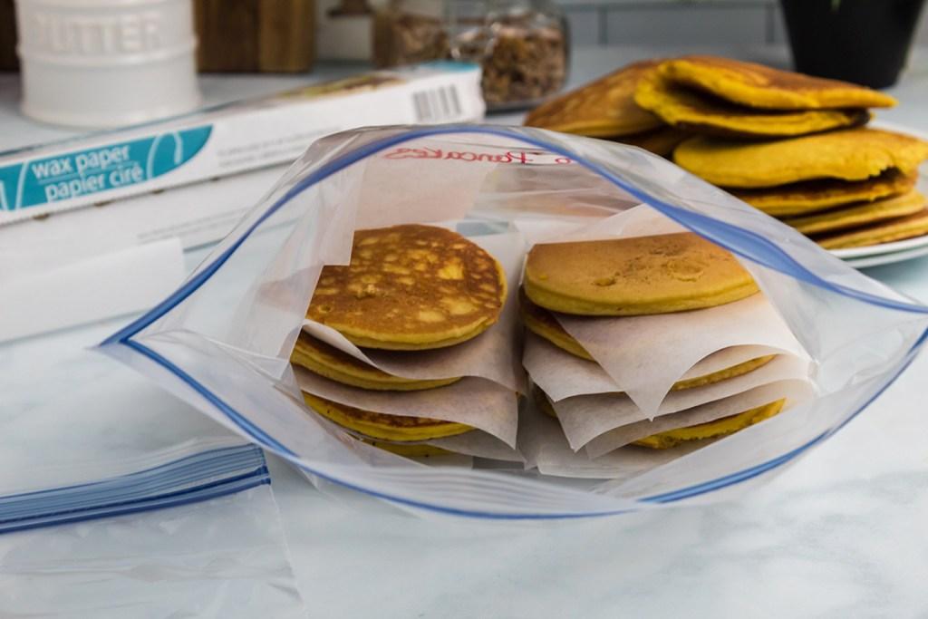pancakes in ziptop bag