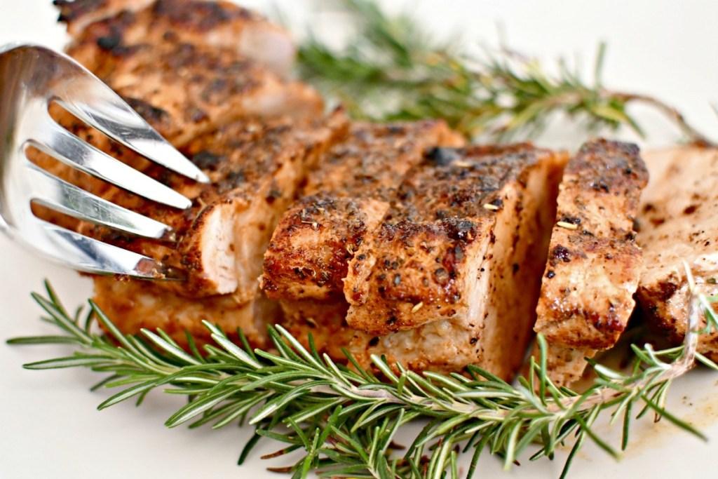pork tenderloin on a plate