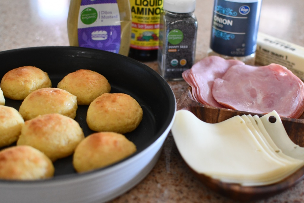 rolls, ham, and cheese
