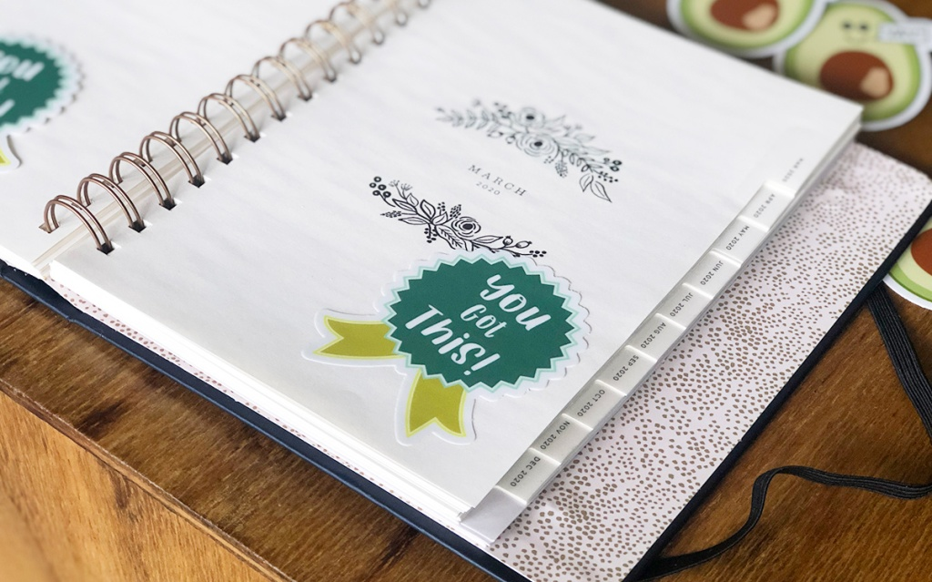 keto success sticker on journal