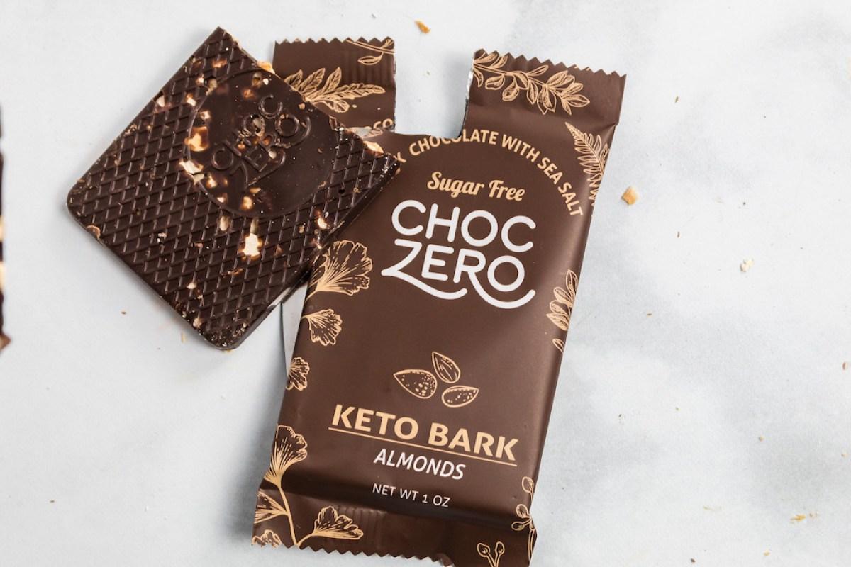 ChocZero Keto Bark sitting on counter