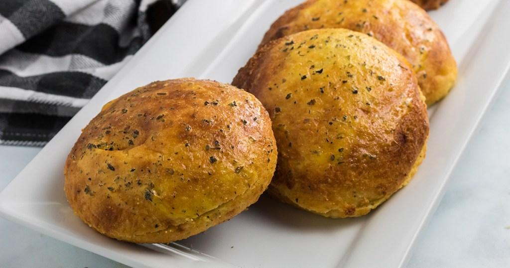 keto buns on a plate