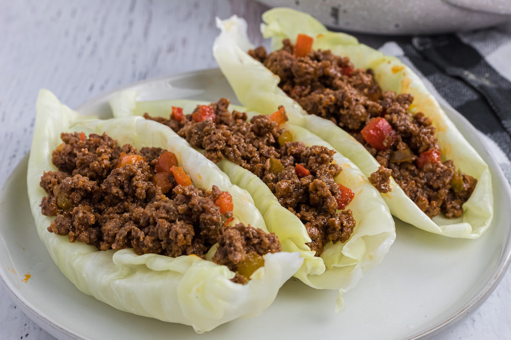 cabbage stuffed with keto sloppy joes