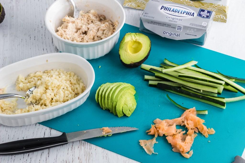 ingredients for sushi
